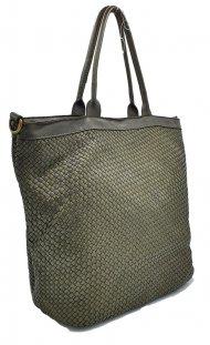 Kožená kabelka 2201 zelená vintage