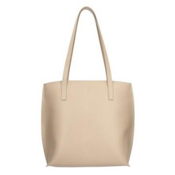 Dámská kožená kabelka FACEBAG BELY - Béžová