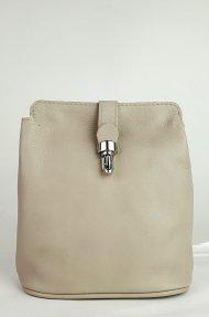Dámská kožená kabelka FACEBAG ANNA S. - Béžová hladká