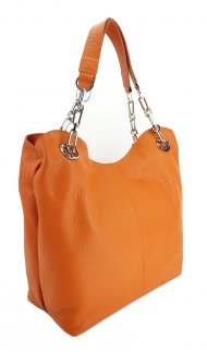 Dámská kožená kabelka FACEBAG AGATA - Oranžová *dolaro*