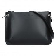 Dámská kožená kabelka FACEBAG - CANNET černá *ruga*