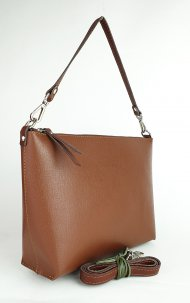 Dámská kožená kabelka FACEBAG RACHEL -  Hnědá *saffiano*
