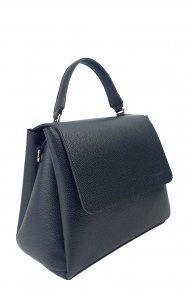 Dámská kožená kabelka FACEBAG GRACE - Černá oboustranná
