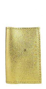 Kožené pouzdro na doklady FACEBAG 115057 - Zlatá