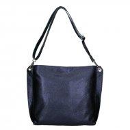 Dámská kožená kabelka FACEBAG - CASIA 1 - Metalická modrá *dolaro*
