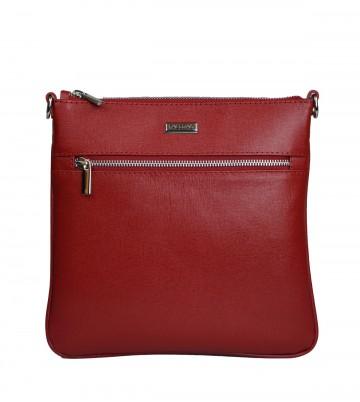Dámská kožená kabelka FACEBAG VILMA - Červená