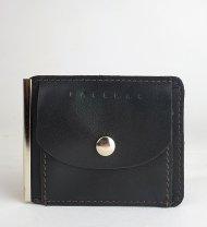 Pánská kožená peněženka FACEBAG DOLARKA - Tmavá hnědá