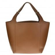 Dámská kožená kabelka MARA - Hnědá