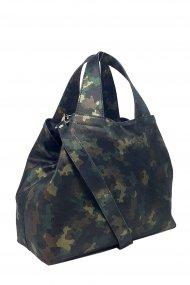 Dámská kožená kabelka FACEBAG SOFI - Maskáčový vzor