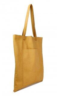 Dámská kožená kabelka FACEBAG ELSA - Světlá přírodní hnědá