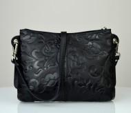 Dámská kožená kabelka FACEBAG - BABI černá