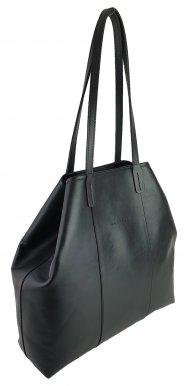 Dámská kožená kabelka FACEBAG MIA - Černá hladká