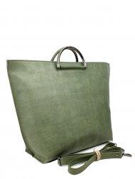 Dámská kožená kabelka FACEBAG TALIA - Zelená hladká *vintage*