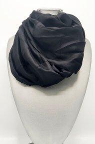 Dámský hedvábný šátek černý