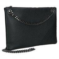 Elegantní dámská kožená kabelka FACEBAG ERIN - Černá *dolaro*