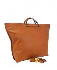 Dámská kožená kabelka FACEBAG TALIA - Cuoio *vintage*