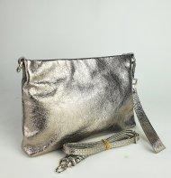 Dámská kožená kabelka FACEBAG MAXA - Zlatá hladká