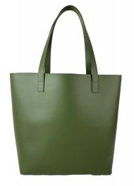 Dámská kožená kabelka FACEBAG ROSINA - Tmavá zelená *ruga*