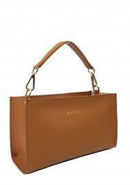 Dámská kožená kabelka FACEBAG BETY - Cuoio *ruga*