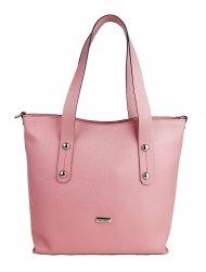 Dámská kožená kabelka FACEBAG IRENE - Růžová *safiano*