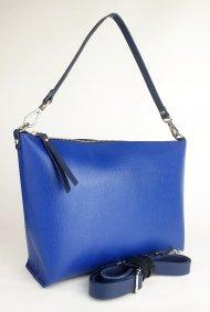Dámská kožená kabelka FACEBAG RACHEL - Světle modrá *saffiano*