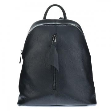 Dámský italský kožený batoh PIETRO - Černý