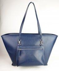 Dámská kožená kabelka FACEBAG NICE - Tmavá modrá *safiano*