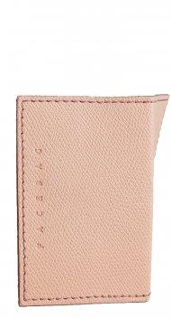 Kožené pouzdro na doklady FACEBAG 115057 - Růžová palmelato