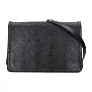 Dámská kožená kabelka FACEBAG MONACO - Černá s hadím vzorem