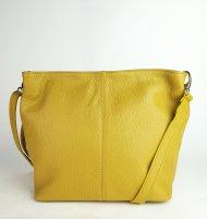 Dámská italská kožená kabelka 3147 - Tmavá žlutá *dolaro*