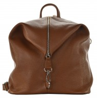 Dámský kožený batoh MASSIMO - Hnědá