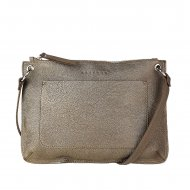 Dámská kožená kabelka FACEBAG - CANNET - Tmavá zlatá *dolaro*