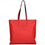 Dámská kožená kabelka FACEBAG CARIBIA - Červená