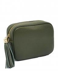 kožená crossbody kabelka Lidia tmavě zelená