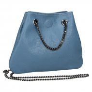 Dámská kožená kabelka FACEBAG JADIE - Modrá *dolaro*