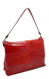 Kožená kabelka Ripani 2713 QO 015 virgo červená