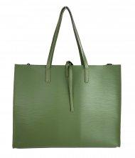 Dámská kožená kabelka FACEBAG CHERI - Tmavá zelená epi