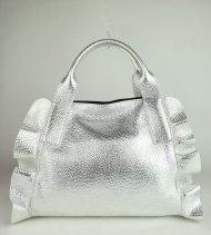 Dámská italská kožená kabelka RIPANI 8603 OM 030 MEDINILLA - Stříbrná *dolaro*