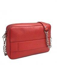 Kožená crossbody kabelka Nina červená metalická