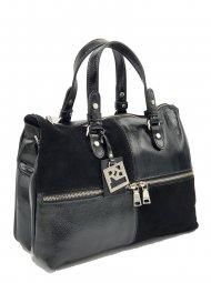 Kožená kabelka Ripani 2711 QO 003 Virgo černá