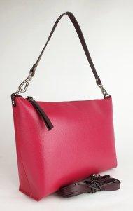 Dámská kožená kabelka FACEBAG RACHEL -Fuchsie *saffiano*
