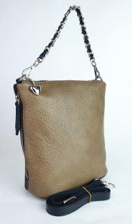 Dámská kožená kabelka FACEBAG EMMA II. - Přírodní hnědá hladká