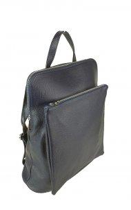Dámský italský kožený batoh KUBA - Tmavá modrá *dolaro*