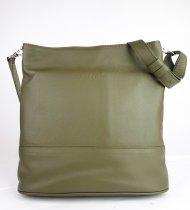 Dámská kožená kabelka FACEBAG FUDA - Tmavá zelená hladká