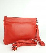 Dámská kožená kabelka FACEBAG MAXA - Červená hladká