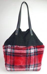 Dámská italská kabelka 3246 -  Černá + červená + bílá