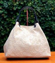 Dámská italská kožená kabelka BONNA 3970 - Béžová