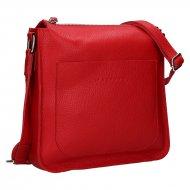 Dámská kožená kabelka FACEBAG LOREN - Červená *dolaro*
