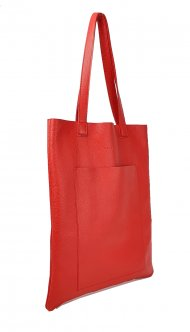 Dámská kožená kabelka FACEBAG ELSA - Červená *dolaro*