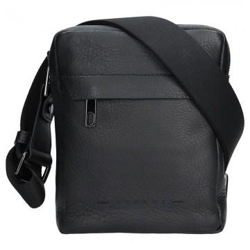 RIPANI FABIO - pánská kožená taška Černá